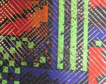 Premium Ankara Print Fabric - Gold Metallic Foil (HF052)