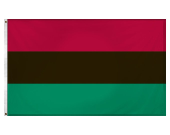 African American Polyester Flag (3' x 5' ft) | Indoor or Outdoor Use | Flags of Africa Collection | Harcourt Fabrics