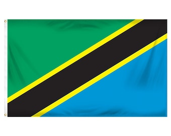 Printed Polyester Flag - Tanzania