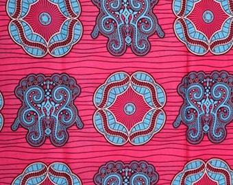 Premium Ankara Print HOLLAND Fabric - 3 @ 16.66/yd or 6 yards @ 9.99/yd (HF444)
