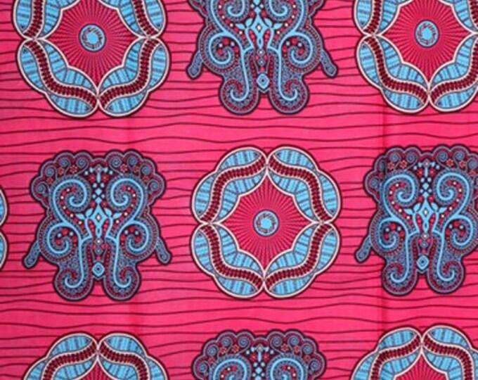 Featured listing image: Premium Ankara Print HOLLAND Fabric - 3 @ 16.66/yd or 6 yards @ 9.99/yd (HF444)