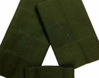 Aso-Oke (Olive Green) - 3 Piece Gele Set