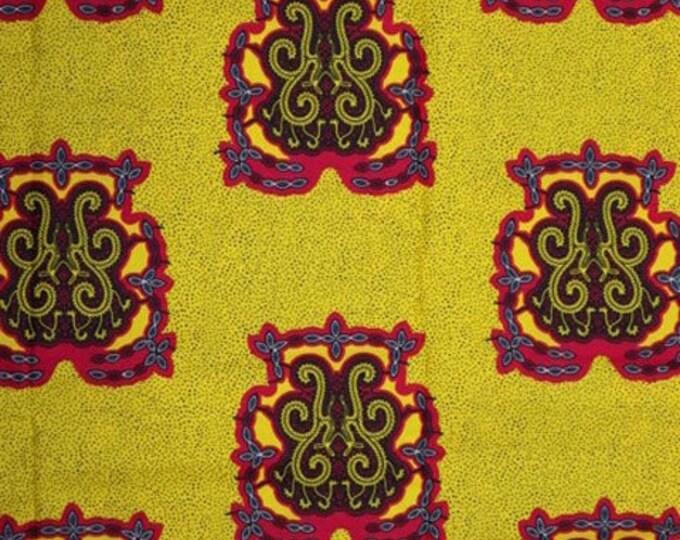 Featured listing image: Premium Ankara Print FASHION Fabric - 3 yards @ 6.66/yd or 6 yards @ 4.99/yd (HF2218)