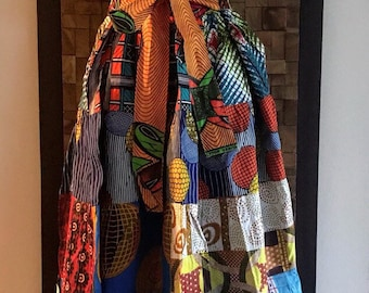 Ankara Print Patchwork Multicolor #12 Full Skirt M/L