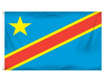 Printed Polyester Flag - Democratic Republic of the Congo