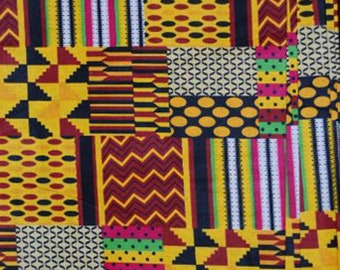 Premium Ankara Print KENTE Fabric - 3 or 6 yards (HF166)