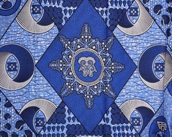 Premium Ankara Print HOLLAND Fabric - 3 @ 19.99/yd or 6 yards @ 11.66/yd (HF440)