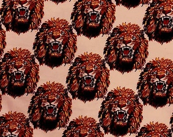 Lion Head Feni Traditional Wool Fabric - Peach (HF1) - 19.99/yd