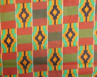 Premium Ankara Print KENTE Fabric - 3 or 6 yards (HF186)
