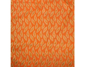 Orange Leaves Lace - 5 yards