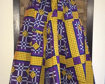 Purple and Gold Full Length Skirt