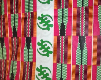 Premium Ankara Print FASHION Fabric - 3 yards @ 9.99/yd or 6 yards @ 6.66/yd (HF142)