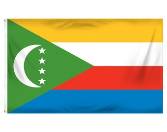Printed Polyester Flag - Comoros