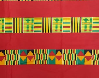 Premium Ankara Print KENTE Fabric - 3 or 6 yards (HF194)