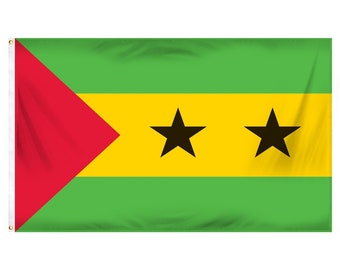 Printed Polyester Flag - Sao Tome and Principe