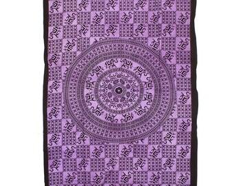 Wisdom & Grace Elephant Tapestry / Wall Hanging #1 - Purple