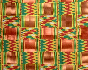 Premium Ankara Print KENTE Fabric - 3 or 6 yards (HF199)