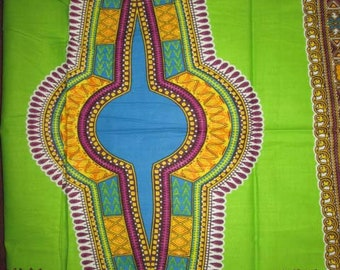 Premium Ankara Print DASHIKI Fabric - 3 or 6 yards (HF1494)
