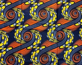 """Ankara Fashion Fabric """"Blossoming Feathers"""" (HFF3074)"""