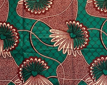 "Ankara Fashion Fabric ""Lovely Lilypads"" (HFF3050)"