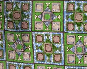Premium Ankara Print HOLLAND Fabric - 3 @ 16.66/yd or 6 yards @ 9.99/yd (HFJ407)