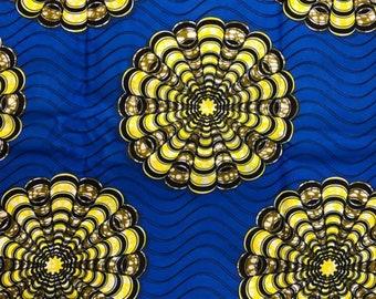 "Ankara Fashion Fabric ""Blue Sequoia"" (HFF3037)"