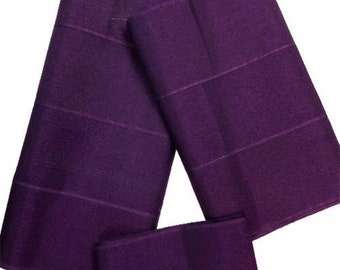 Aso-Oke (Purple) - 3 Piece Gele Set