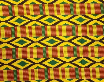 Premium Ankara Print KENTE Fabric - 3 or 6 yards (HF208)