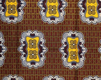 Premium Ankara Print HOLLAND Fabric - 3 @ 19.99/yd or 6 yards @ 11.66/yd (HF442)