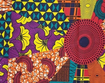 Premium Ankara Print FASHION Fabric - 3 yards @ 9.99/yd or 6 yards @ 6.66/yd (HF116)