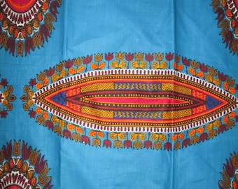 Premium Ankara Print DASHIKI Fabric - By the Yard (HF1554)