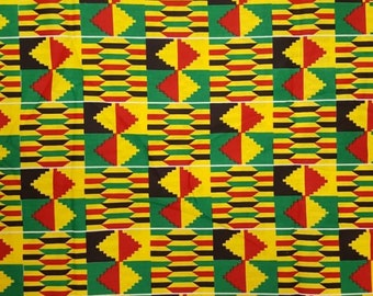 Premium Ankara Print KENTE Fabric - 3 or 6 yards (HF203)