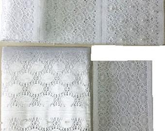Textured Aso-Oke (White) - 3 Piece Gele Set