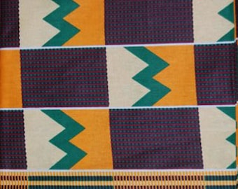Premium Ankara Print KENTE Fabric - 3 or 6 yards (HF156)
