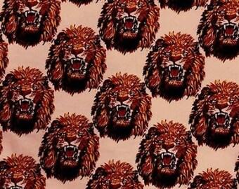 Isi-Agu Lion Head Traditional Nigerian Fabric - Peach (HF1)