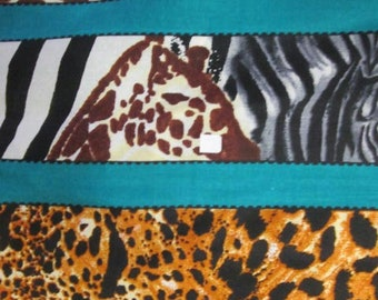 Premium Ankara Print ANIMAL PRINT Fabric -  By the Yard (HF1351)