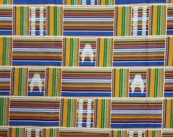 Premium Ankara Print KENTE Fabric - 3 or 6 yards (HF195)