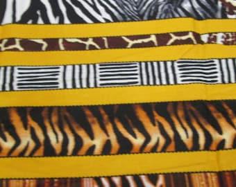 Premium Ankara Print ANIMAL PRINT Fabric - By the Yard (HF921)