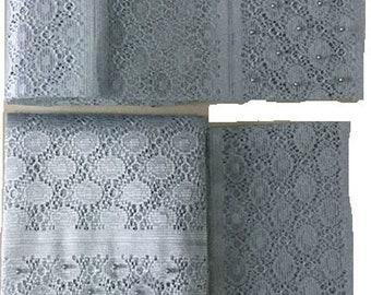Textured Aso-Oke (Silver) - 3 Piece Gele Set