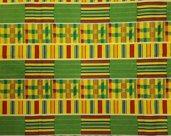 Premium Ankara Print KENTE Fabric - 3 or 6 yards (HF201)