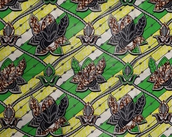 Premium Ankara Print FASHION Fabric - 3 yards @ 9.99/yd or 6 yards @ 6.66/yd (HF166)