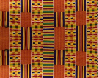Premium Ankara Print KENTE Fabric - 3 or 6 yards (HF209)