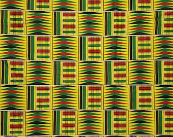 Premium Ankara Print KENTE Fabric - 3 or 6 yards (HF207)