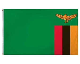 Printed Polyester Flag - Zambia