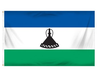 Printed Polyester Flag - Lesotho