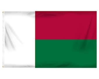 Printed Polyester Flag - Madagascar