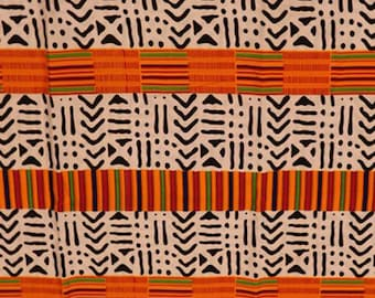 Premium Ankara Print KENTE Fabric - 3 or 6 yards (HF213)