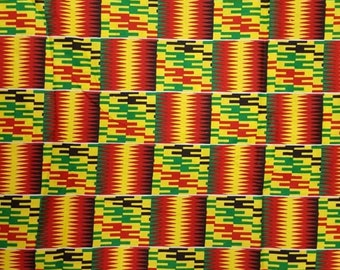 Premium Ankara Print KENTE Fabric - 3 or 6 yards (HF198)