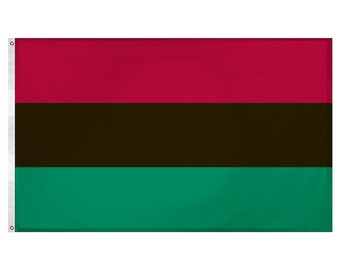Printed Polyester Flag - African American