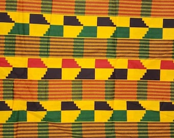 Premium Ankara Print KENTE Fabric - 3 or 6 yards (HF197)